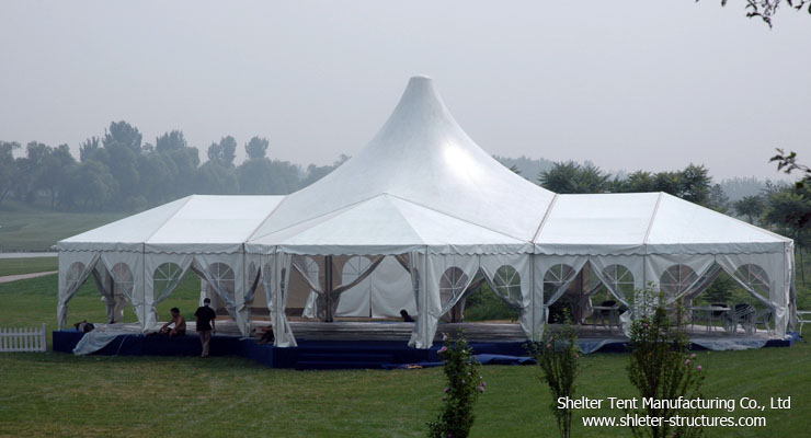 Decorated  Party Tent