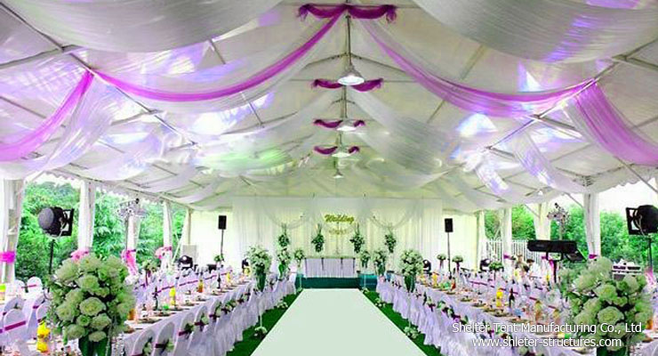 big outdoor party tent