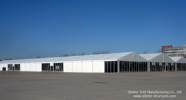 big warehouse tent